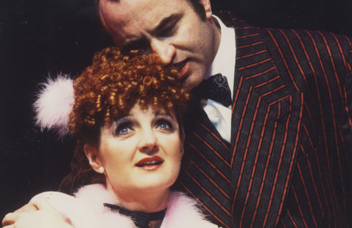 Julia McKenzie and Bob Hoskins in Guys and Dolls at the National Theatre in 1982. Photo: John Haynes