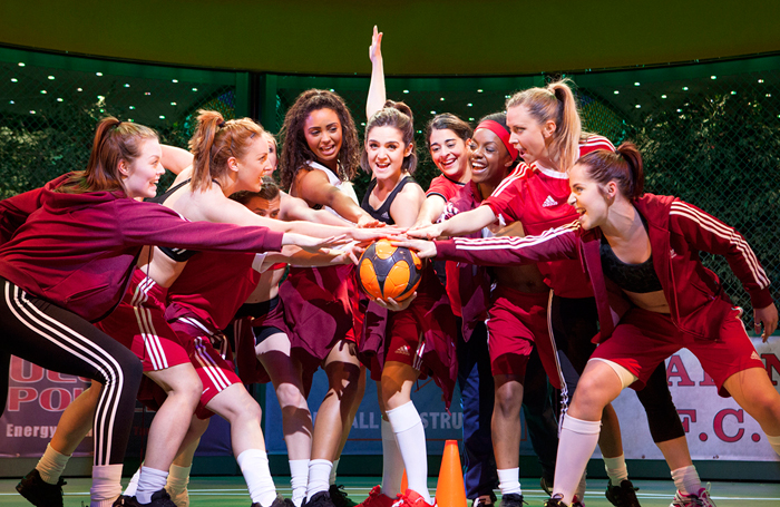 Scene from Bend It Like Beckham at the Phoenix Theatre, London. Photo: Ellie Kurttz