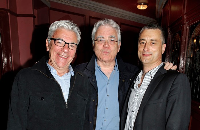 John Napier, left, with Bill Kenwright