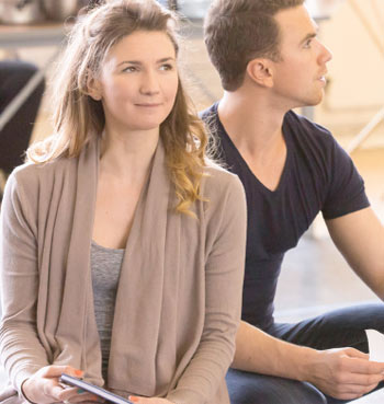Summer Strallen and Richard Fleeshman in rehearsals for A Damsel in Distress at Chichester Festival Theatre. Photo Johan Persson
