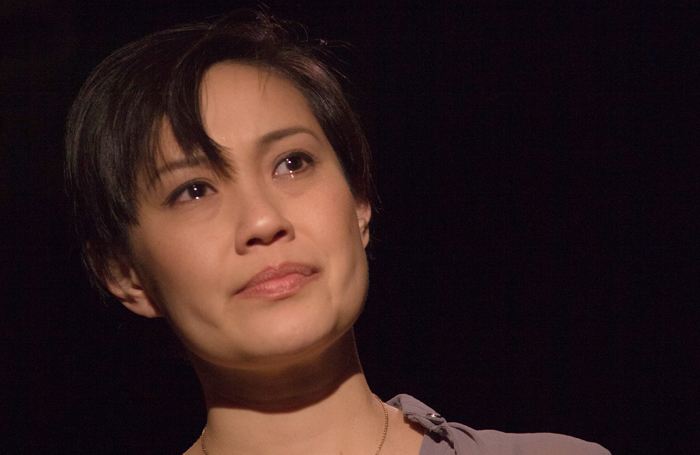 Wendy Kweh in Image of an Unknown Young Woman at London's Gate Theatre. Photo: Iona Firouzabadi