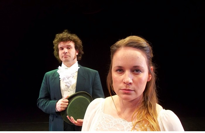 Alex Rivers as Elizabeth Bennet and Edward Ferrow as Mr Darcy in Pride and Prejudice