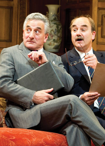 Henry Goodman and David Haig in Yes, Prime Minister at Chichester Festival Theatre in 2010