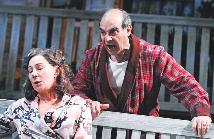 Zoe Wanamaker and David Suchet in All My Sons at the Apollo Theatre. Photo: Tristram Kenton