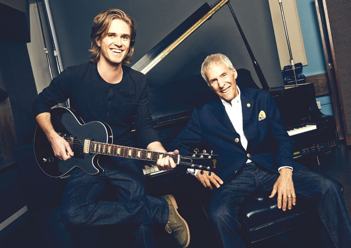 Kyle Riabko and Burt Bacharach. Photo: Eric Ray Davidson