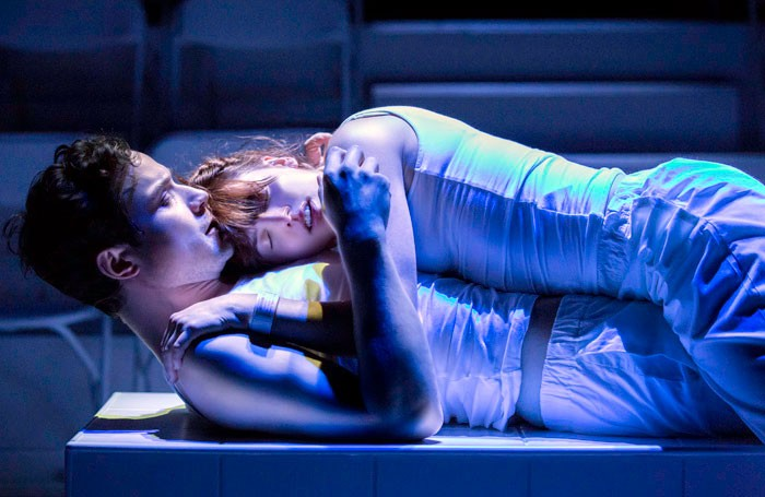 Henry Pettigrew and Ophelia Lovibond in The Effect. Photo: Johan Persson