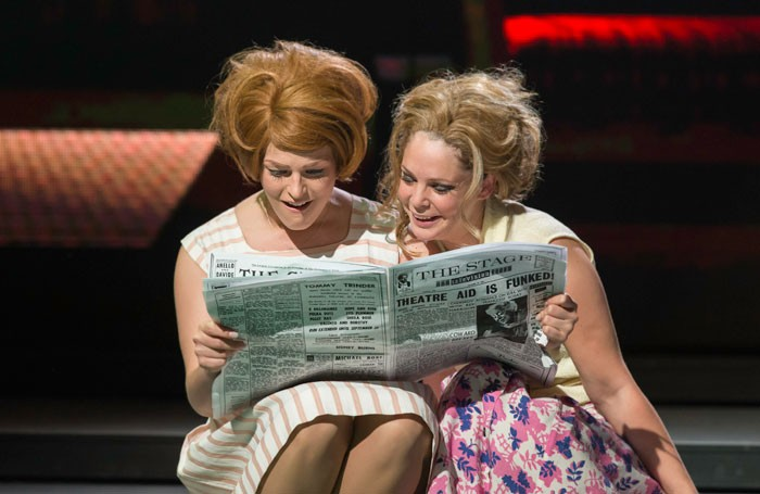 Ellie-Ann Lowe and Francesca Jackson in Dusty at the Charing Cross Theatre. Photo: Johan Persson