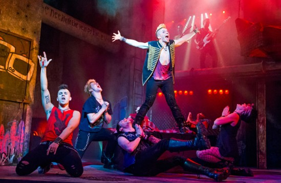 A scene from American Idiot at the Arts Theatre, London. Photo: Tristram Kenton