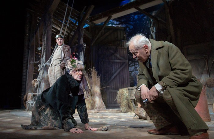 Harry Michell, Anita Dobson and Michael Pennington in She Stoops to Conquer. Photo: Manuel Harlan