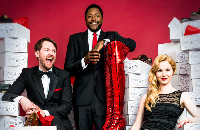 Killian Donnelly, Matt Henry and Amy Lennox, who will star in Kinky Boots. Photo: Matt Crockett
