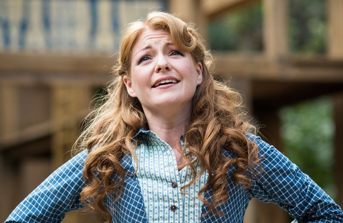 Laura Pitt-Pulford in Seven Brides for Seven Brothers. Photo: Helen Maybanks