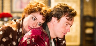 Posh woes? Toby Stephens with Anna Chancellor in Private Lives at the Minerva, Chichester in 2012. Photo: Tristram Kenton