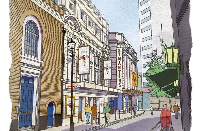 Architects' plans for the new Sondheim Theatre