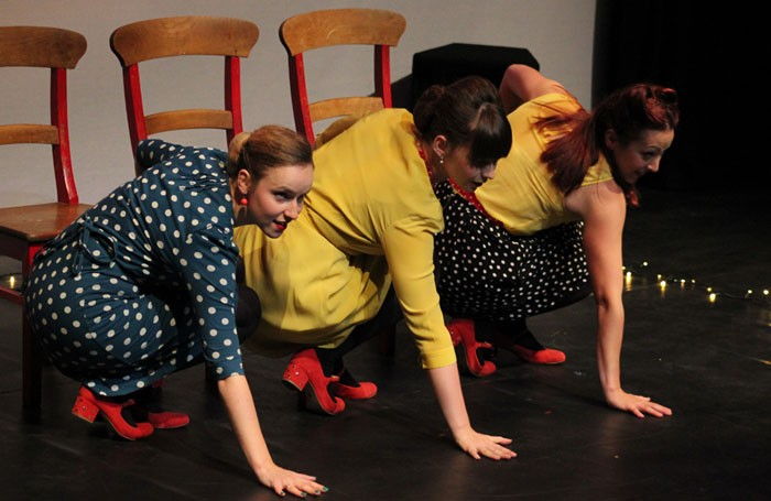 Dancers from Spilt Milk, one of the first companies to tour under the Rural Touring Dance Initiative.
