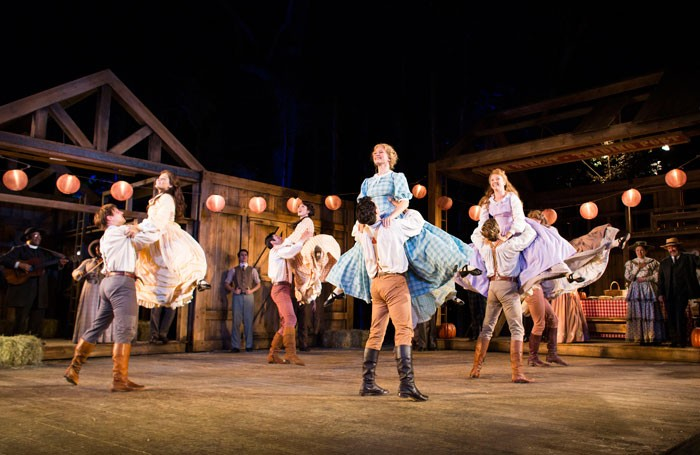 Seven Brides for Seven Brothers at Regent's Park Open Air Theatre. Photo: Helen Maybanks
