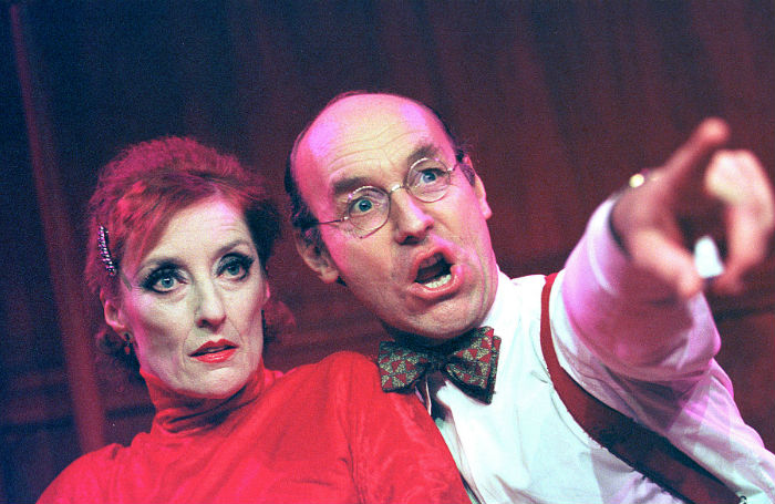 McAlister with Judith Paris in Ken Russell's Weill and Lenya at the New End Theatre, London, in 1999. Photo: Tristram Kenton