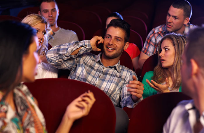 How can we stop mobile phone usage in theatres? Photo: Shutterstock
