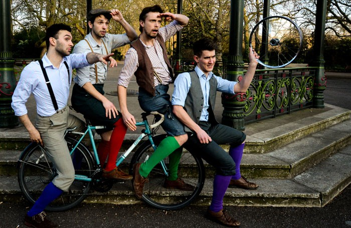 (left to right) Matthew Seager, Callum Brodie, Tom Dixon, Calum Hughes-McIntosh, of HandleBards
