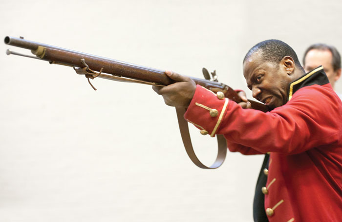 Cyril Nri in rehearsals for Our Country's Good. Photo:  Simon Annand
