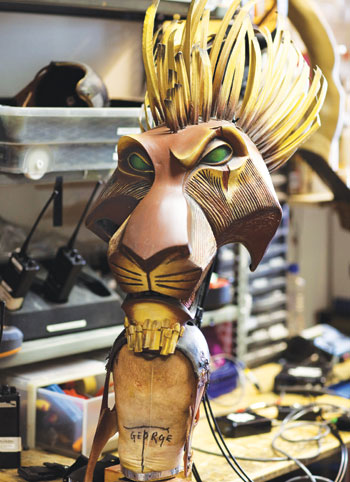 Each mask for The Lion King is a bespoke piece. Photo: Helen Maybanks