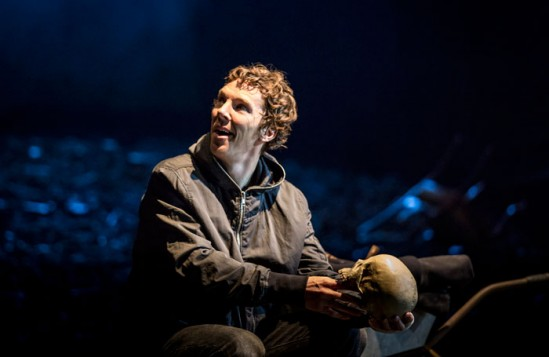 Benedict Cumberbatch in Hamlet at the Barbican Theatre, London. Photo: Johan Persson