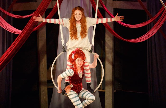 Phoebe Thomas (top) and Nikki Warwick in Hetty Feather. Photo: Donald Cooper