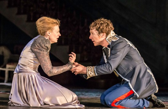 Anastasia Hille and Benedict Cumberbatch in Hamlet at the Barbican. Photo: Johan Persson