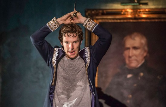 Benedict Cumberbatch as Hamlet at the Barbican. Photo: Johan Persson