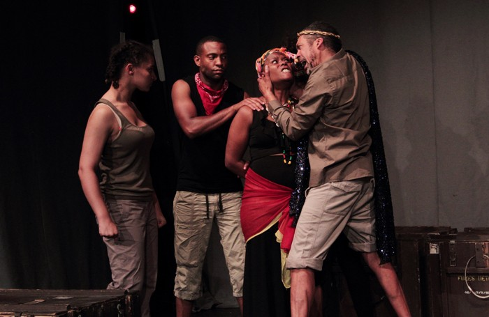 Darcy Charles, Adrian Tomlin, Allison Mason and Ben Onwukwe in Black Spartacus. Photo: Mary-Kay