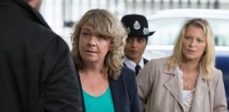 Sophie Stanton and Gillian Taylforth in EastEnders. New directors will get to work on the show as part of a new BBC scheme. Photo: Jack Barnes/BBC