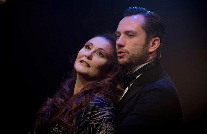 Christine Grimandi and Scott Garnham in Grand Hotel at Southwark Playhouse. Photo: Aviv Ron
