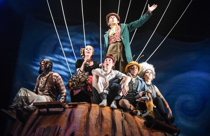 Scene from James and the Giant Peach at the Mercury Theatre, Colchester. Photo: Robert Day