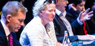 Jenny Sealey speaking at the Act for Change event at the National Theatre. Photo: Helen Murray