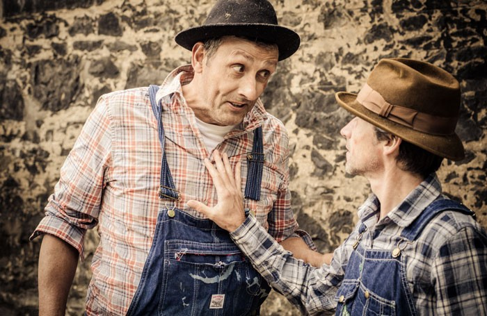 Nigel Miles-Thomas and Michael Roy Andrew in Of Mice and Men. Photo: Susie Cavill