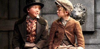 Ed Betton and Arthur Burdess in Oliver! at the Watermill Theatre. Photo: Philip Tull