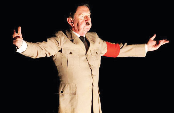 Utton's portrayal of Hitler has evolved since the first production of Adolf. Photo: Andy Doornhein