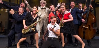 The cast of rock 'n' roll musical Roll Over Beethoven at Queen's Theatre