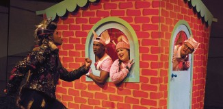 Simon Webbe, Taofique Folarin, Leanne Jones and Daniel Buckley in The Three Little Pigs at the Palace Theatre