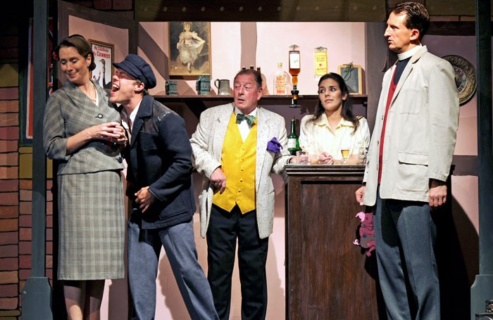 Sarah Ogley, Rikki Lawton, Clive Flint, Amy Christina Murray and Harry Gostelow in The Titfield Thunderbolt. Photo: Stephen Wolfenden