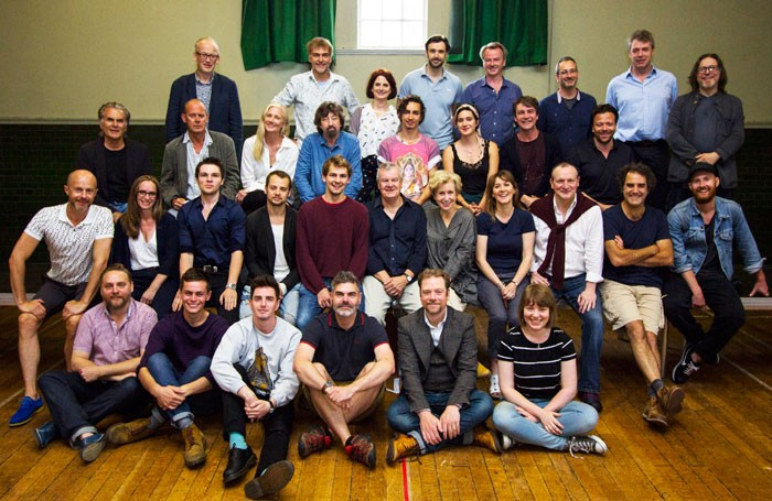 The cast of the Wars of the Roses at the Rose Theatre, Kingston