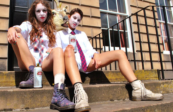 Becca Biscuit and Louise Mothersole in Women's Hour at Summerhall, Edinburgh. Photo: Ellie Stamp