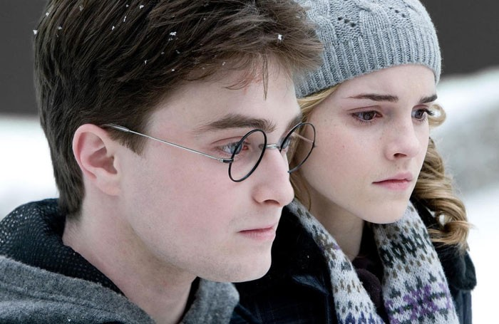 Daniel Radcliffe and Emma Watson in Harry Potter and the Half-Blood Prince. JK Rowling did not interfere with the Potted Potter theatrical spin-off