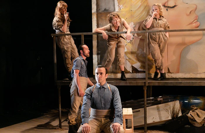 The cast of Carmen in OperaUpClose's pared-down production. Photo: Andreas Grieger