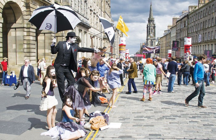 High jinx on the Royal Mile: although built up on comedy, the free and PWYW models are now increasingly relevant to theatre