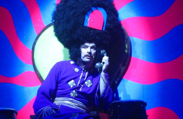 Julian Barratt in The Mighty Boosh's stage show, which has required elaborate props since its inception. Photo: Ella Mullins
