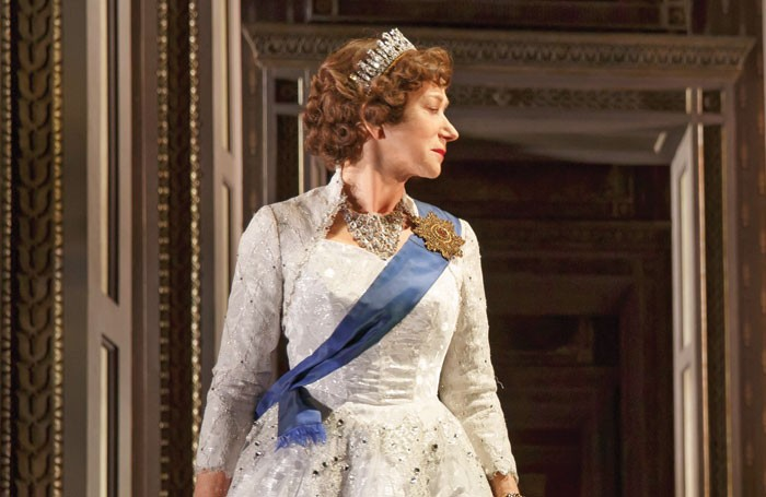 Helen Mirren as Queen Elizabeth II in The Audience, for which she won a Tony award, on Broadway. Photo: Joan Marcus