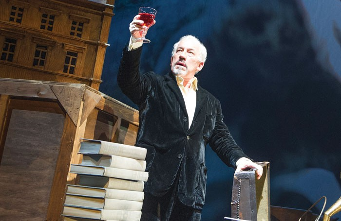 Simon Callow in Inside Wagner's Head at the Linbury Studio Theatre, London, in 2013. Photo: Tristram Kenton
