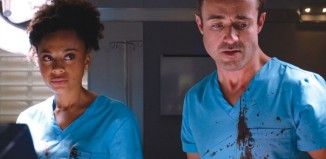Ellie Fanyinka and Joe McFadden in BBC1's Holby City. Photo: BBC
