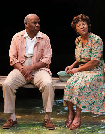 Don Warrington and Dona Croll in All My Sons at the Royal Exchange. Photo: Jonathan Keenan