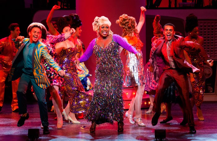 Brenda Edwards in Hairspray at Leicester Curve. Photo: Ellie Kurttz